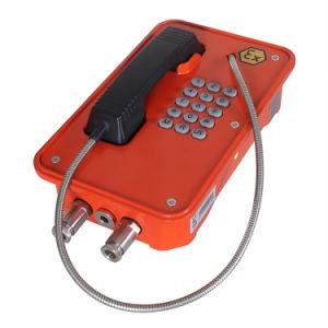 Resistente a umidade Industrial SIP Telefone à prova de explosão, certificação ATEX Telefone à prova de explosão