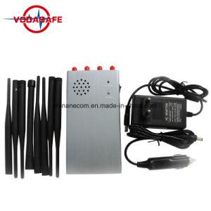 8 de Stoorzender van Cellphone van kanalen, Handbediende Blocker van de Telefoon van 8 Antenne voor 2g+3G+4G+Gpsl1, Cellulaire Blocker van de Stoorzender van de Telefoon