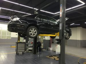 4000kg Hydraylic Liberação Manual do carro elevador de 2 Colunas
