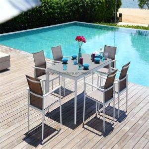 L'élingue de profilé en aluminium étanche tissu Ensemble de salle à manger des meubles de jardin