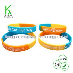 Wristbands/braccialetti del silicone di codice di Debossed Qr di modo