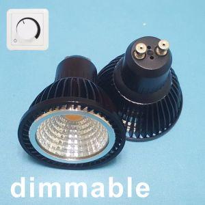 LED de alumínio Die-Cast Spotlamp ESPIGA LED GU10 7W com reflector