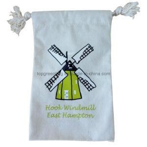 Kundenspezifischer organischer Segeltuch-Baumwollbeuteldrawstring-Geschenk-Beutel-Zeichenkette-Beutel