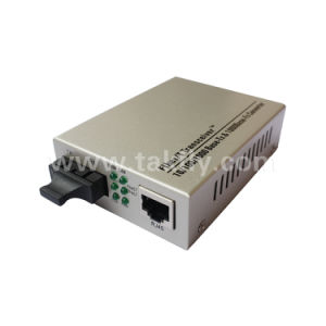 10/100/1000M Sc mm/Sm simple/doble fibra Ethernet de fibra óptica conversor de medios de comunicación
