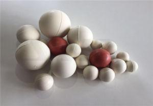 Preto e branco sólido de fábrica direto a esfera de borracha sem orifício