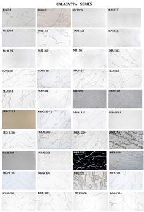 Les matériaux de construction dalle de pierre de quartz Calacatta panneaux imitation