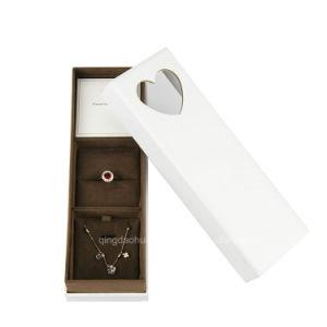 Настраиваемый логотип картон роскошь ожерелья ювелирные изделия в подарочной упаковке бумаги .