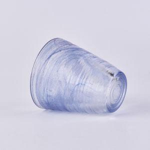 Bascula portavelas de vidrio con una textura especial