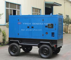 100kVA stille Mobiele Diesel van de Aanhangwagen Generator voor Verkoop