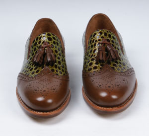 De Cuero auténtico de la moda de hombre zapatos de la Oficina de Negocios