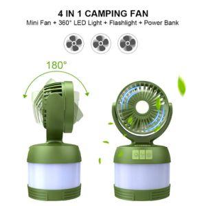 新製品の優先するキャンプのランタンLEDの軽い夏小型ファン及び力バンクと