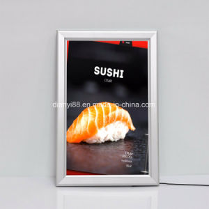 ファースト・フードのレストランLED細い広告映像のライトボックス