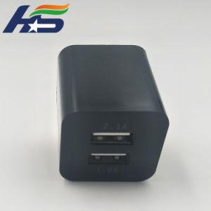 Квадратный дизайн корпуса телефона зарядное устройство с двумя портами USB штекер ЕС