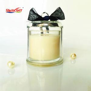 ökologische duftende Kerzen des Sojabohnenöl-150g im Farbanstrich-Glas-Glas