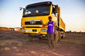 Preço baixo usado FAW Caminhão Basculante 12 Rodas dumper380HP 40toneladas para a África
