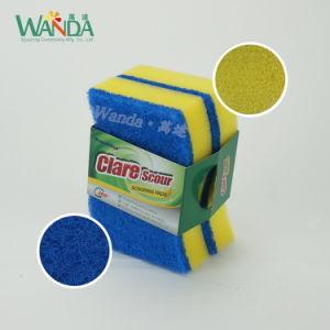 En forma de S Scourer esponja de limpieza de alta densidad para la limpieza de cocina