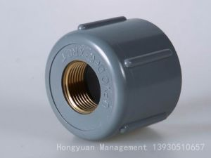 Пластмассовую заглушку трубы ПВХ с внутренней резьбой меди