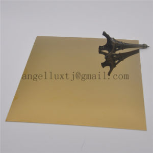 Strato di superficie Shinning dell'acciaio inossidabile di colore di Champagne dello specchio del piatto decorativo di Inox