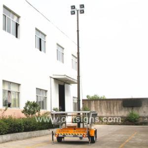Torretta chiara portatile LED, dell'albero di notte del rimorchio a pile telescopico di esplorazione torretta chiara solare mobile elettrica Emergency 12V