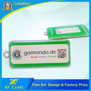 preço de fábrica Tampografia personalizado de ambos os lados do anel da chave de metal para promoção (KC15)
