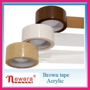 De acryl Zelfklevende en Enige Opgeruimde Bruine Band van de Verpakking BOPP voor het Verzegelen van het Karton