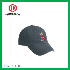 Black Embroidered Baseball Caps (CPA-14-1146)