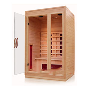 Ahora Infared Suana Sauna de interior de madera maciza