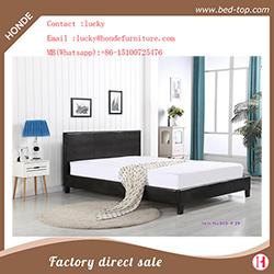 Einfaches doppeltes Upholsterd Faux-Leder-Bett