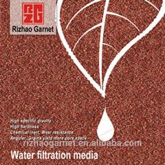 Le grenat haute densité pour les médias de filtration de l'eau