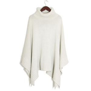 Fashion Acrylic Knitted Turtleneckの女性ショールのポンチョ(YKY4143)