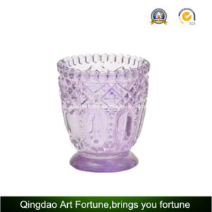 Bougeoir en verre avec un décor en pointillés pour Tealight bougie