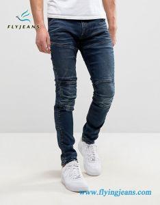 Nuovo tipo jeans del denim del motociclista del motociclo degli uomini