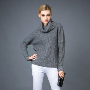 Turtleneck Fashion Sweater (17brpv098)女性の