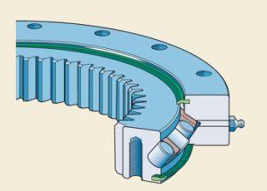 Engranaje exterior externo de velocidades de rotación del cojinete giratorio anillo el cojinete caciones. 061.25.1754