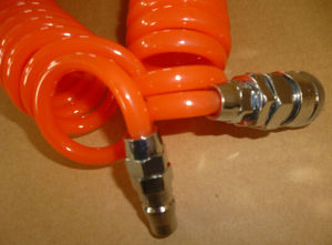 Industrie PU Coiled Hose/TPU Spiral Tube/PU Coiled Tubing mit Quick Couplers