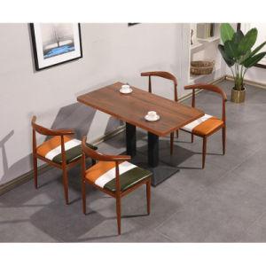La mayoría popular restaurante moderno de madera juego de mesa de comedor Muebles de 4 Sillas