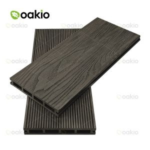 3D Деревянные зерна WPC Композитный пластик из светлого дерева декорированных системной платы для использования вне помещений
