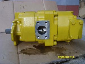 Doppia pompa a ingranaggi idraulica di KOMATSU (705-52-32001)