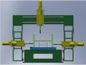 Machine de forage en 3D CNC Bras mobiles machine de forage en 3D