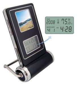 1.5目覚し時計および温度のデジタルフレーム