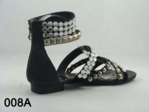 Rhinestone Flat Chaussures femmes (008A)