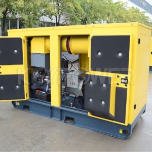 Tipo de silencioso 15kVA conjunto gerador a diesel com o Tanque de Combustível Superior