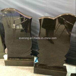 Rechte Grafstenen van het Graniet van China de Zwarte met Eenvoudige Stijl voor Levering voor doorverkoop
