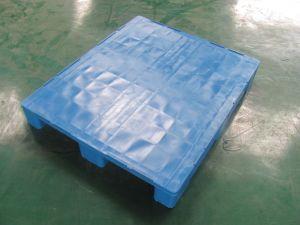 Paletes de plástico com estrias em torno para grades sem escorregar