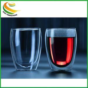 La preuve de chaleur Ddouble mur de verre en forme d'oeufs tasse tasse Bodum main