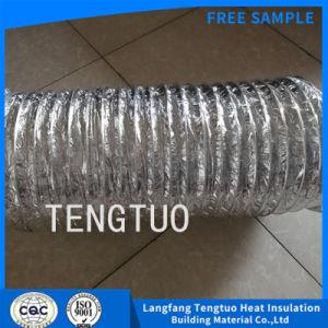 Lámina de aluminio color plata de los conductos flexibles para ventilar