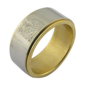 c4a351da5858 Anillo de regalo de promoción de los hombres clásico anillo de oro chapado  en Joyería