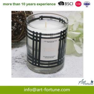 Ароматические свечи стекла с табличкой бумаги в подарок для интерьера