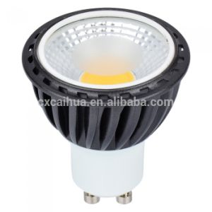5W GU10 COB LED Spotlight mit Black Aluminum