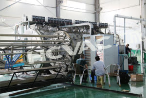 Hcvac grosse horizontale PVD Beschichtung-Maschine für 3m 6m Edelstahl-Rohr